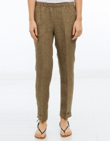 Pantalón goma lino - verde MASSCOB