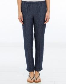 Pantalón goma lino - azul MASSCOB