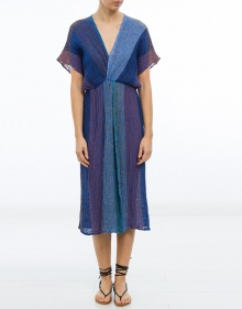 Tricolor linen dress MASSCOB