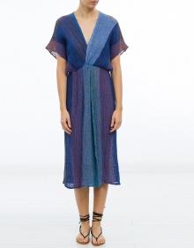 Vestido lino tricolor MASSCOB