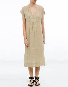 Vestido recto lino rústico MASSCOB