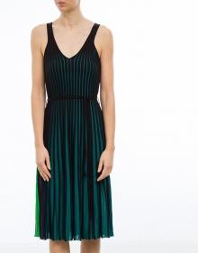 Vestido plisado punto bicolor KENZO