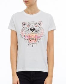 C/T-shirt mc tigre - blanco KENZO