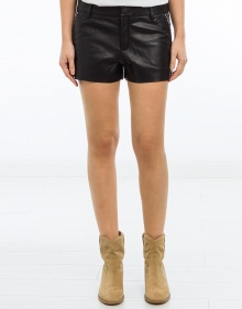 Leather shorts with tacks ZADIG & VOLTAIRE
