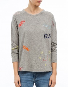 Felpa letras colores THE HIP TEE