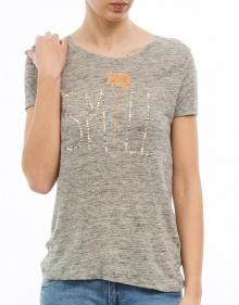 T-shirt mc entallada smile lino THE HIP TEE