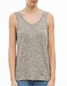 T-shirt sm lino corazón strass THE HIP TEE