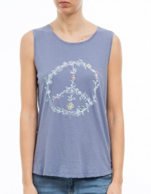 T-shirt sm peace flores THE HIP TEE