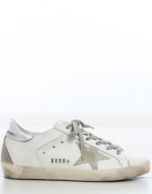 Sneakers silver metal SUPERSTAR GOLDEN GOOSE DELUXE BRAND