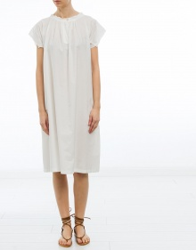 Oversized cotton dress - white AVN