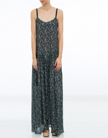 Vestido largo tirantes florecitas TWIN-SET