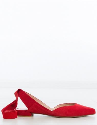 calzado- Bailarina cintas SUPERSONIC - rojo STUART WEITZMAN