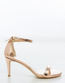 NUNAKED sandal - silver glitter STUART WEITZMAN