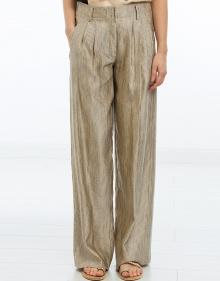 Pantalón seda amplio rayas FORTE FORTE