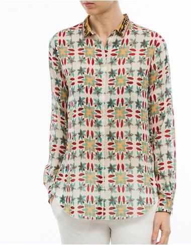 tops-y-camisas Camisa algodón-seda estampada FORTE FORTE