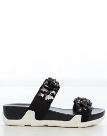 Sandalia sneakers piel flores ASH