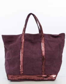 Medium size linen Le Cabas bag