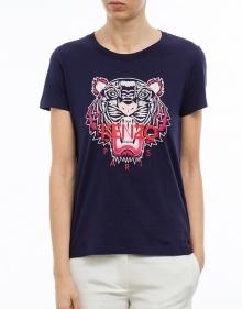Printed tiger T-shirt - navy KENZO