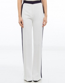 Lateral stripe trousers - white V.V. BECKHAM