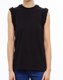 Ruffle t-shirt - black V.V. BECKHAM