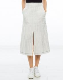 Falda midi rayas bolsillos T BY ALEXANDER WANG