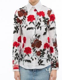 Blusa rosas bordadas MONROE GANNI
