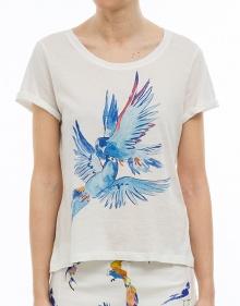 T-shirt mc beso pájaros G. KERO