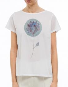 T-shirt flor azul A.P.C.