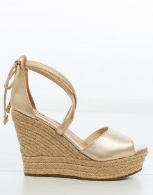 REAGAN esparto wedge sandals - gold UGG
