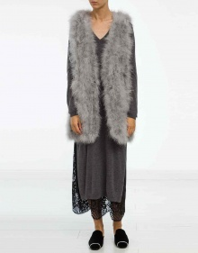 Marabou vest - light grey TWIN-SET