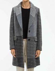 Abrigo cuadros grises TWIN-SET