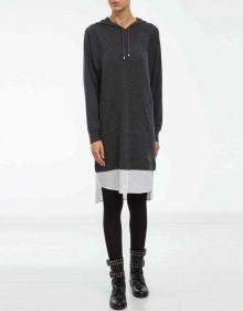 Vestido capucha - bajos popelín TWIN-SET