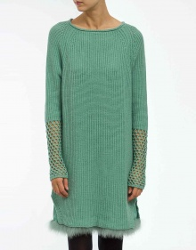 Marabu knitted dress - green TWIN-SET