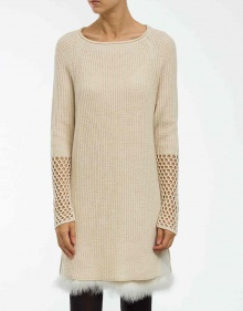 Marabu knitted dress - ecru TWIN-SET
