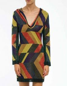 Vestido geométrico lúrex TWIN-SET