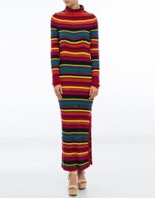 Vestido largo punto rayas colores TWIN-SET