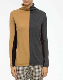 Jersey cuello alto geométrico TWIN-SET