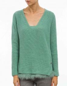 C/Jersey bajos pelito - verde TWIN-SET