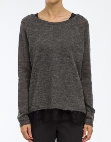 Jersey forro encaje - gris TWIN-SET