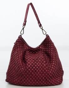 Big Hermenegilda bag - burgundy MALABABA