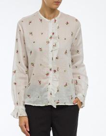 UAMOS - Blusa romántica ramio bordado - blanco