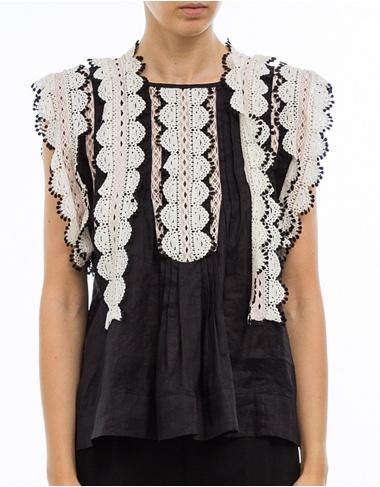 tops-y-camisas NANDY - Blusa volantes - negro ISABEL MARANT