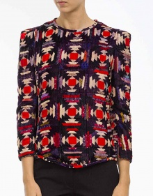 TULINE-Top aboatado ml estampado velvet ISABEL MARANT