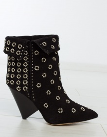 LAKKY suede studded boots - black