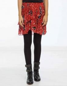 C/Falda estampada fruncida - rojo IRO