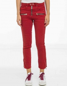 C/PELONA Jeans moteros - rojo ISABEL MARANT ETOILE