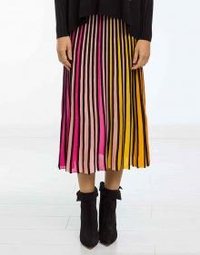 Falda punto plisada multicolor KENZO