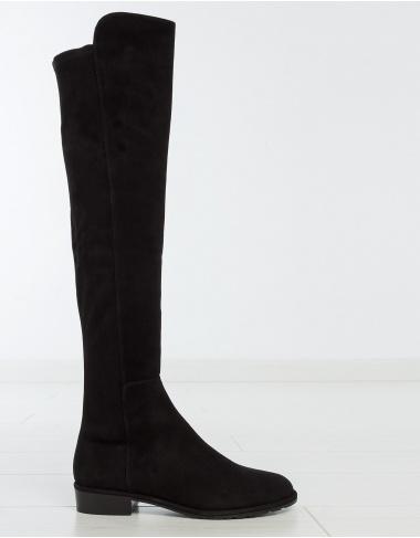 footwear ALLGOOD strech suede boots - black STUART WEITZMAN
