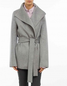 Wool and cashmere short coat with belt JOSEPH
