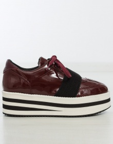 Platform patent leather sneakers CUEMEND SHOES